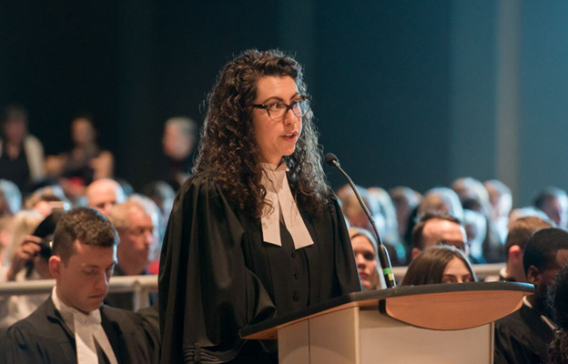 young lawyer being called to the bar